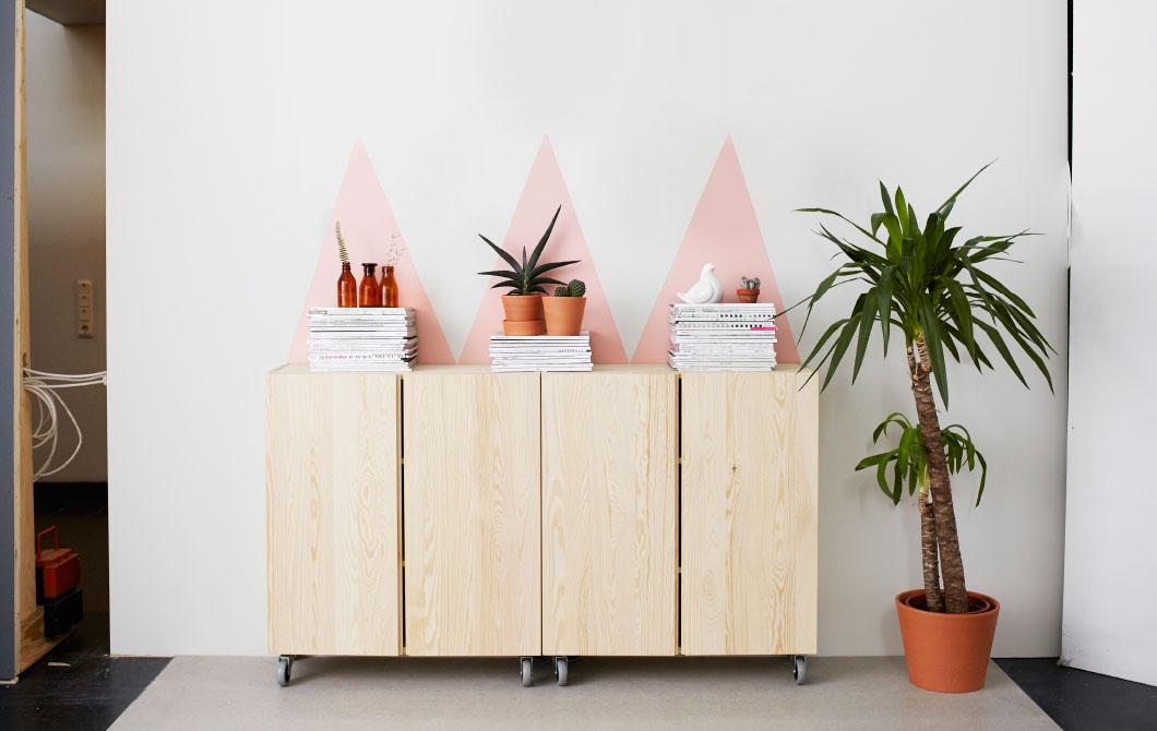 Mit wandfarben interior details hervorheben - Ikea mobel neu gestalten ...